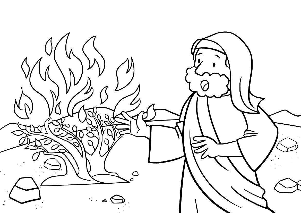 Mose und brennender Busch