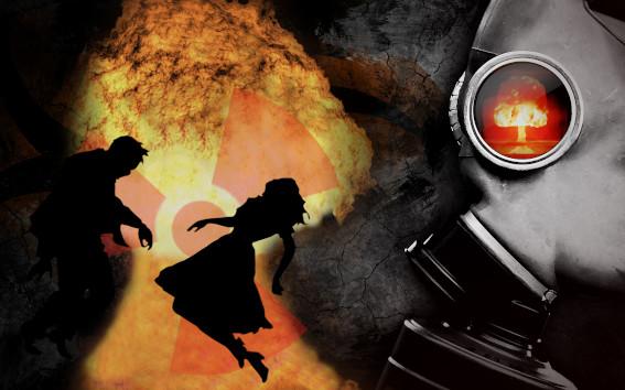Bild zum Thema Imagination: Explosion und sterbende Menschen.